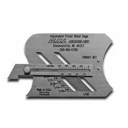 Adjustable Fillet Weld Gauge