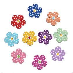 Flower Shaped Wood Buttons