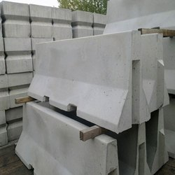 Road Safety Grey Concrete Jersey Barrier