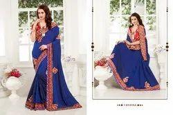 Tamanna Linen Party Wear Saree with Melbourne Silk Blouse