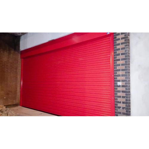 Red Aluminum Automatic Electric Rolling Shutter