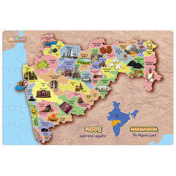 Zigyasaw Maharashtra Premium Giant Floor Puzzle, Size/dimension: 36 Inch X 24 Inch