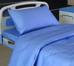 Welspun Blue Disposable Hospital Bed Sheet With Pillow Cover, Size: 229 Cm X 140 Cm