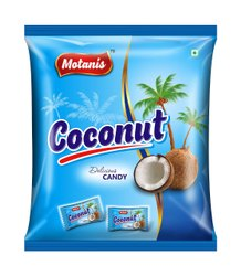 Oval Brown Coconut Candy, Packaging: Box, Packaging Size: 160 Pcs