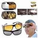 HD Vision Unisex Wrap Around Day Night Sun Glasses UV Protected