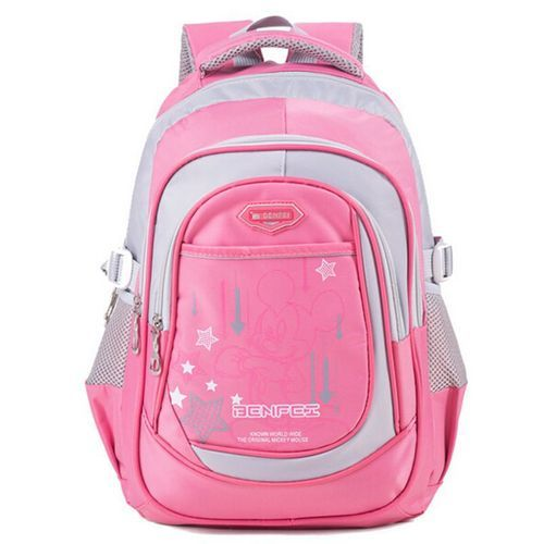 a634f9ece1af Pink And Grey Kids Girl Backpack School Bag, Rs 200 /piece | ID ...