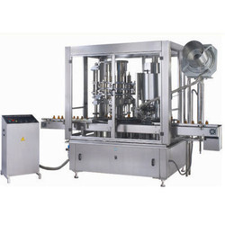 Automatic Monoblock Rotary Eight Head Piston Filler & Rotary Six Head Capper Machine Model RRFC-80