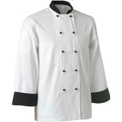 White Coat with black border and black collar Hotel Chef Coat