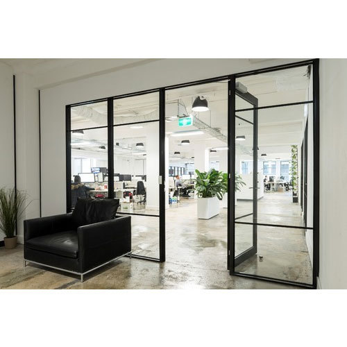 Modern Aluminum Frame Swing Door Partition at Rs 200 /square feet ...