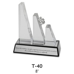 Silver, Black Glass T40 Corporate Trophies