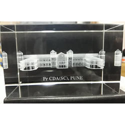 3D Building Crystal Engraved