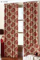 Jacquard Curtain Fabric Printed Jute Curtains