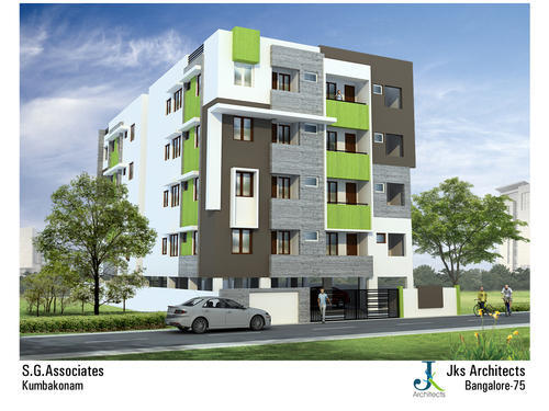 Building Elevation Designing In 60 Feet Road Kumbakonam Id