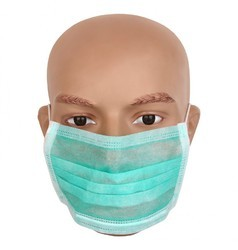 Sea Green Non Woven 3 Ply Surgical Mask
