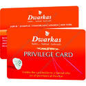 Pcw White And Blue Privilege Cards For Jewelers Or Diamond Stores, Size: 86 X 54 Mm
