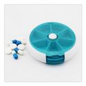Portable 4 Compartment Round Pill Dispenser