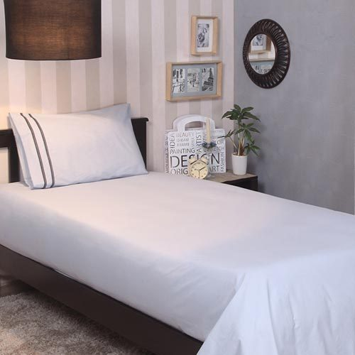 a3722c50902 Pure Cotton White Cotton Single Bed Sheet