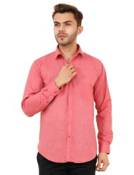 Red Gajri Color Full Sleeve Plain Shirt