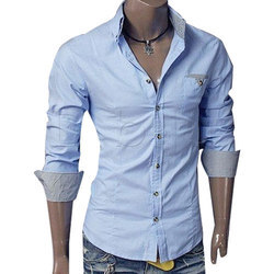 Medium Full Sleeve Mens Plain Shirts