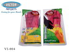 Plain Medium and Large Volk House Hold Rubber Hand Gloves