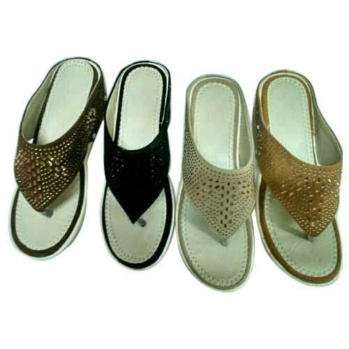Rexine Ladies Chappal, Size: 6 and 7