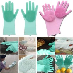 Green And Pink Silicone Glove