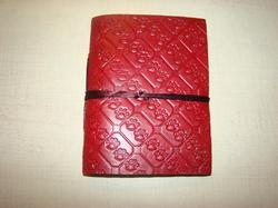 Pink Embossed Handmade Leather Journal