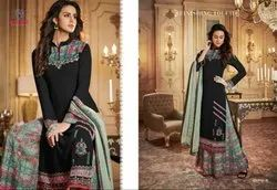 Rangrez Gold Fancy Salwaar Suits