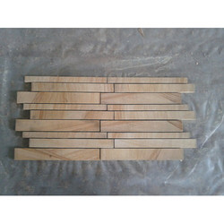 Wall Stone Strip Mosaic Tile, Packaging Type: Box, Thickness: 10 - 12 mm