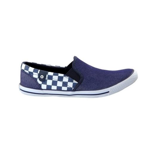 Touch - Canvas -Navy Check-602 Shoes
