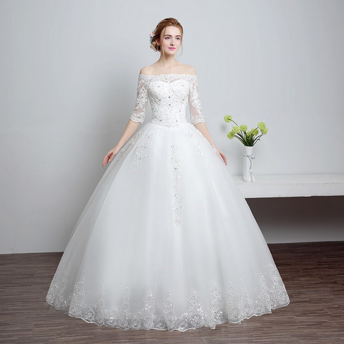 Christian Wedding White Gown: Tulle And Imported Christian Wedding Gown /Catholic Gowns