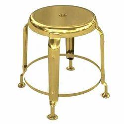 Kanak Creation Iron Golden Stool