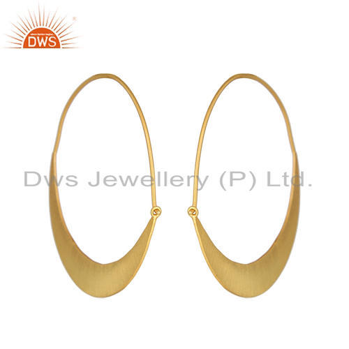 a43cd8849 DWS 18K Gold Plated Silver Bali Hoop Earrings Jewelry, Rs 1365 /pair ...