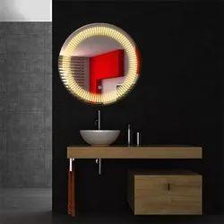 Led Sensor  Mirror Round Design