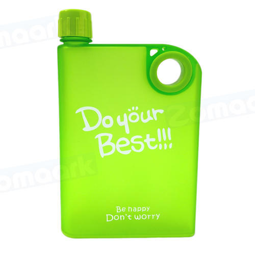 Flat Water Bottle >> Zomaark New Design Frosted Do Your Best Flat Reusable Bpa Free