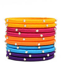 Silk Multicolor Thread Bangle