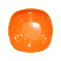 AI Orange Melamine Square Soup Bowl, Size: 5 Inches