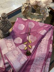 Pure Banarasi Chiffon Georgette Handloom Saree