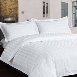 Hotel Striped Double Bedsheet