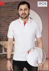 Mafatlal Premium T-Shirt (WHITE RED)