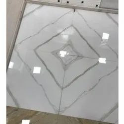 Polished Vitrified White Floor Tile, For Flooring, Thickness: 15-20 mm