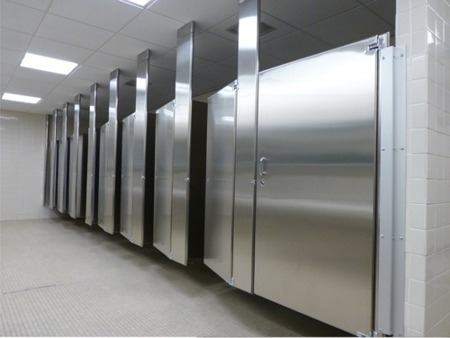 Ss toilet cubicle at rs 21000 unit toilet partitions - How to install bathroom partitions ...