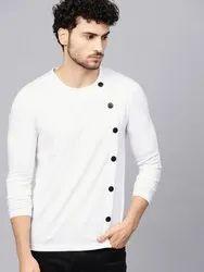 Cotton Printed Trendy Men's T Shirt, Size: S to XXL