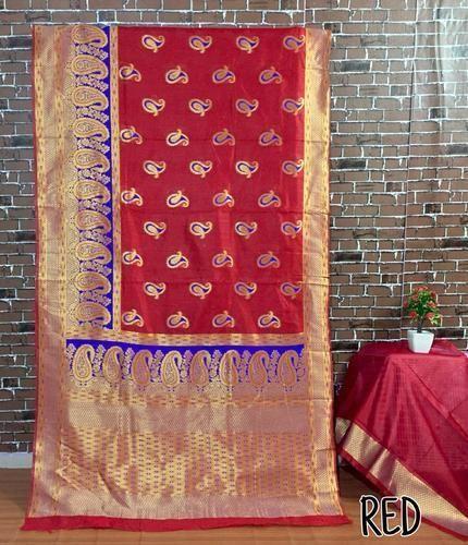 1ebfd233ed Banarasi Silk Saree With Zari Work, Rs 1200 /piece, Khodiyar Fashion ...