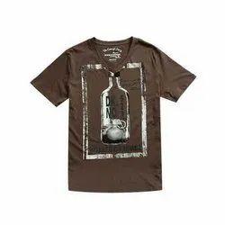 Today Retail Mens Printed Cotton V-Neck T-Shirt