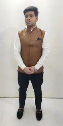 Brown Party Wear Jacket