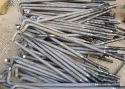 Mild Steel Foundation Bolts, Size: M12-M64
