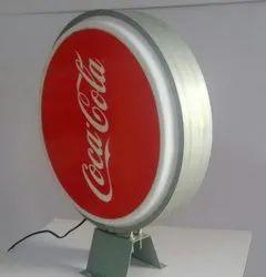 凸缘标志棒棒糖背面圆,12伏,尺寸:18英寸