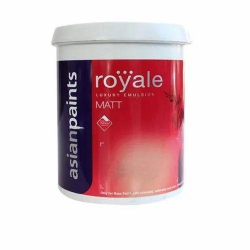 White Asian Paints Royale Matt Luxury Emulsion Paint, Packaging Size: 20 Liter