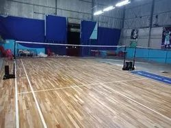Teak Wood Badminton Flooring